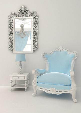 muebles antiguos: Muebles barrocos en interior de lujo Foto de archivo