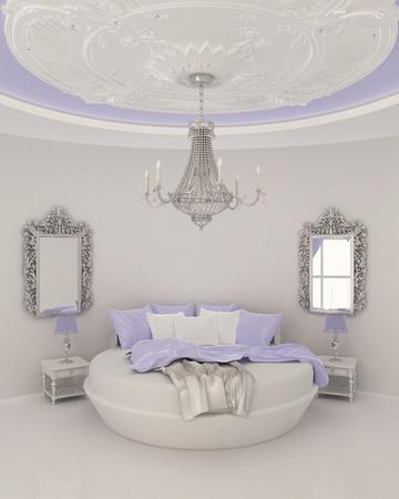 ceiling decor in modern bedroom Stock Photo - 10300765