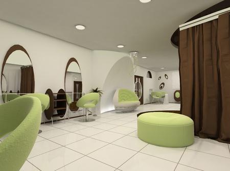 Outlook of luxury beauty salon photo