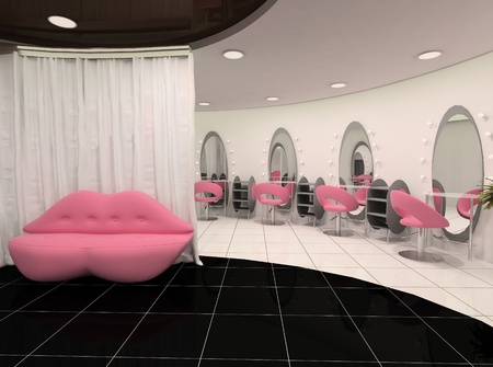 salon hair: Outlook of stylish beauty salon