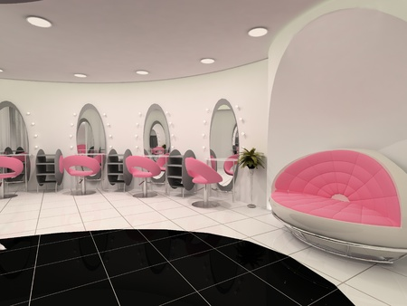 hairdressing salon: Interior of Professional beauty salon