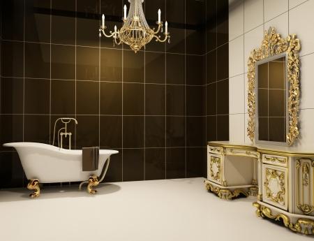 barocco: Mobili barocco nella stanza da bagno