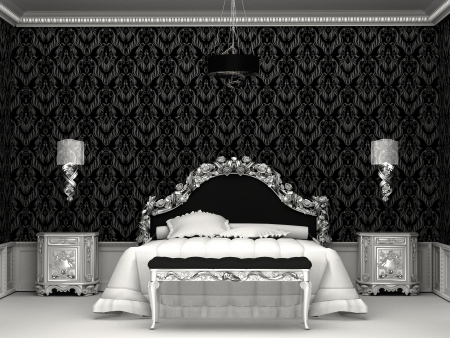 Baroque furniture in roayl bedroom Stock Photo - 10329773