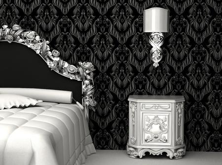 Baroque furniture in bedroom photo