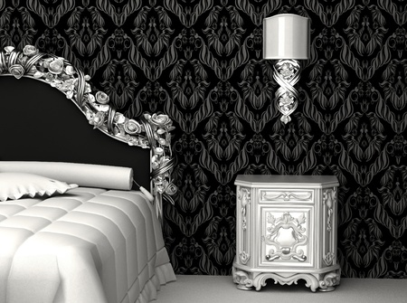 luxuriously: Baroque furniture in bedroom Stock Photo
