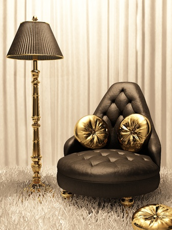 sumptuous: Luxurios furniture in design interior Stock Photo