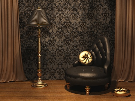 luxuriously: Luxurious furniture in old styled interior