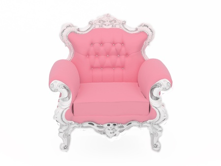 antique chair: Pink doll