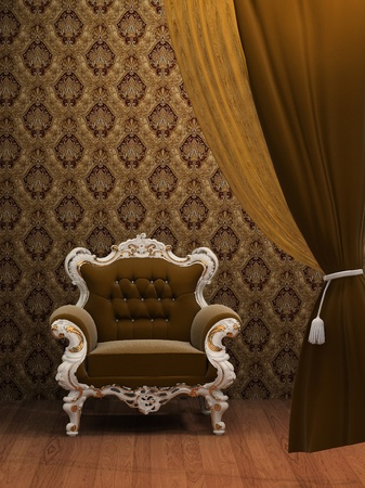 styled interior: Armchair in Old Styled Interior