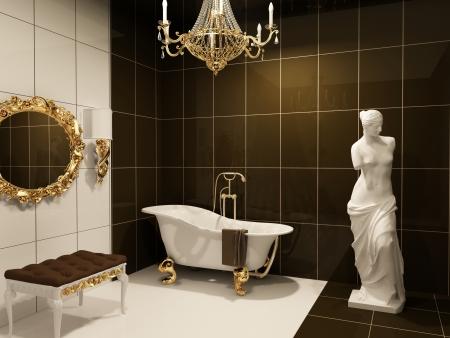 Luxuus furniture with statue  of Venus in baroque bathroom Stock Photo - 10350709