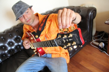 man nuts: men with  Electric guitar