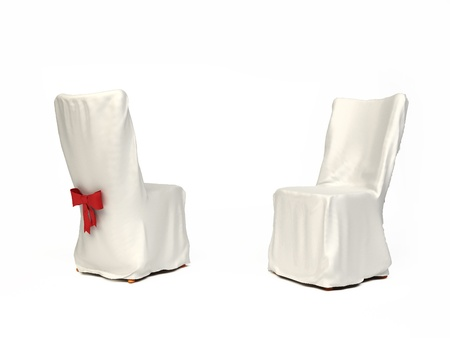 wedding chairs: Cavered chair for wedding isolated on white background