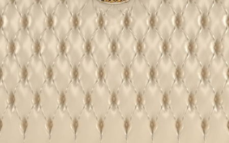 Luxurious beige texture, buttoned leather pattern. Royal photo