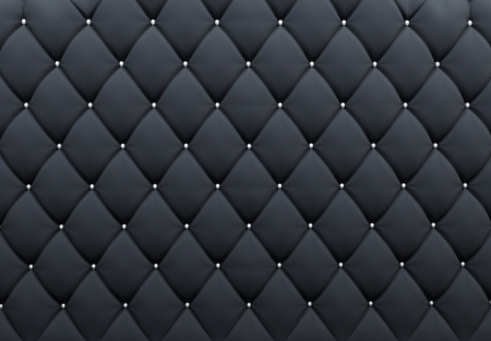 black leather: Pattern. Buttoned texture. Luxurious background