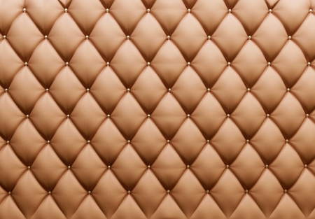 brown leather sofa: Buttoned on the Texture. Repeat pattern  Stock Photo