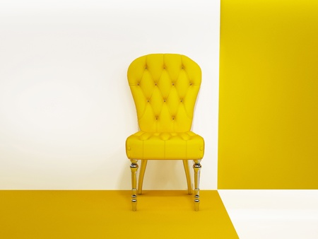 modern chair: Armchair or chair in abstraction interior Stock Photo