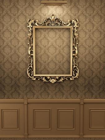 muro: Royal cornice dorata sul muro interno. Galleria