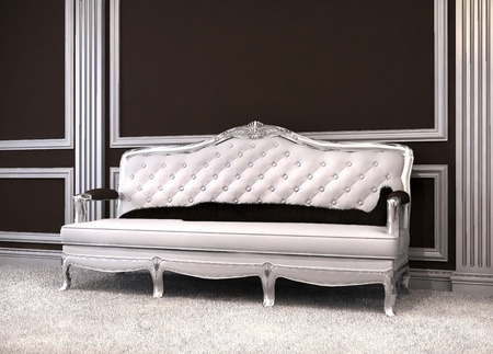 baroque room: Luxurious sofa in classical interior.  Stock Photo