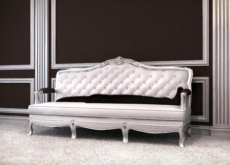 furniture hardware: Sof� lujoso interior cl�sica.  Foto de archivo