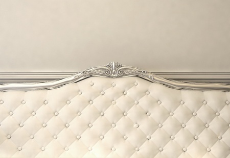 Luxurious back of sofa. Baroque interior photo