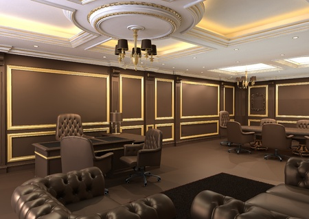 office ceiling: Interior office space, royal apartment with luxury furniture