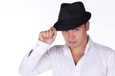 Handsome man with hat photo