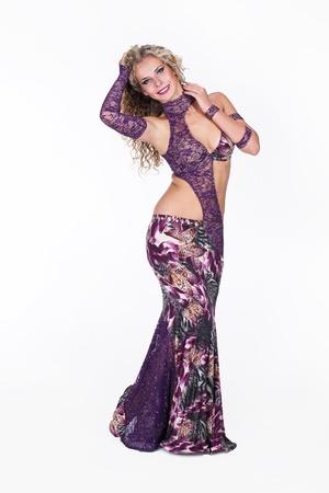Young woman dance oriental dance Stock Photo - 11087361