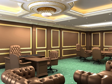 proceedings: Interior office space, royal apartment with luxury furniture Stock Photo