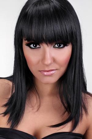 Portrait of beautiful sexy female brunette model photo