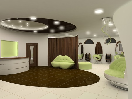 luxuriously: Outlook of luxury beauty salon interior space apartment
