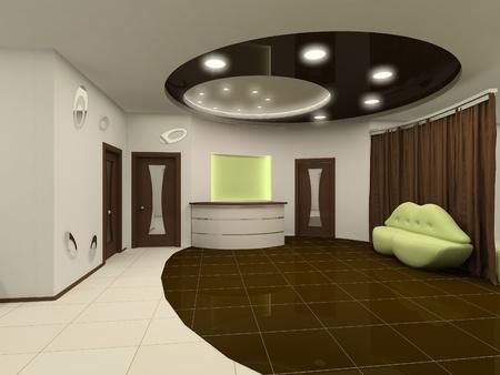 furniture design: Reception interior design hall with furniture