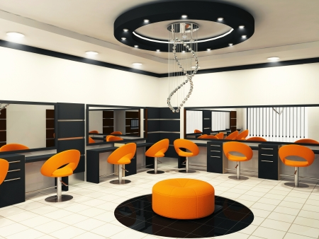 Luxuus inter of a beauty salon with creative ceiling Stock Photo - 13719572