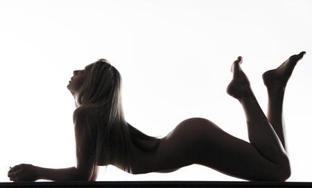 junge nackte m�dchen: Weibliche Kurven vor wei�em Sexy K�rper nackt Frau nackt sinnlich sch�ner R�cken