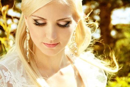 Fashion Blond Girl with make up photo