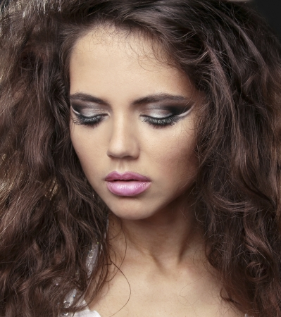 portrait of beautiful woman model with makeup Stock Photo - 14886587