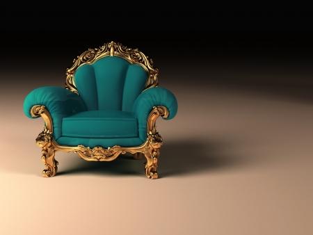 armrest: Royal modern armchair with golden frame