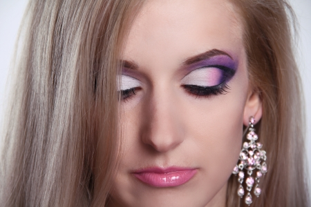Make up. Eyeshadow makeup. Jewelry Stock Photo - 16664719