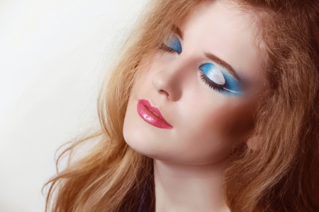 Eyeshadow make up. Beauty Face. Fashion art photo Stock Photo - 16664716