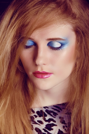 Eyeshadow make up. Beauty Face. Fashion art photo Stock Photo - 16664724