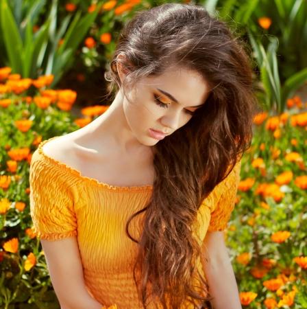 Hair  Beautiful Brunette Girl  Healthy Long Hair  Beauty Model Woman  Hairstyle
