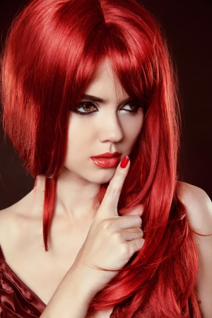 Beautiful woman with red hair Stock Photo - 20494301