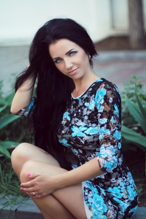 long weekend: Hair. Beautiful Brunette Girl. Healthy Long Hair. Outdoors Portrait. Beauty Model Woman. Hairstyle. Hair care