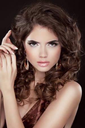 bronzed: Beautiful Sexy Brunette Woman