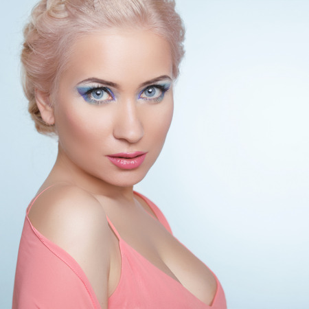 Attractive young blond woman portrait.  photo
