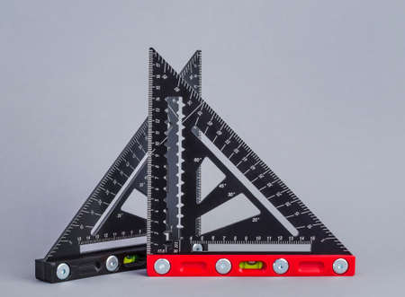 Leveling tools, triangular rulers with level for repair and construction