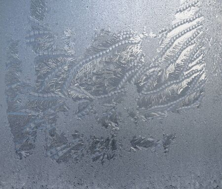 winter pattern from frost, frost on the window pane, beautiful background
