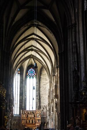 stephen: VIENNA, AUSTRIA - JULY 29, 2016: A vindow at St. Stephens Cathedral, Austria. Editorial