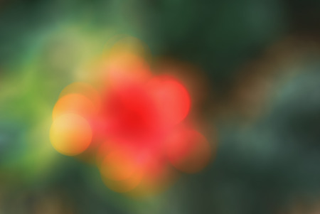 Bright red yellow orange green abstract beautiful colorful bokeh blurred lights texture background. Stock fotó