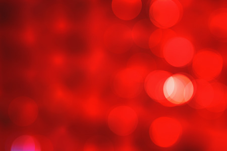 Bright red white abstract beautiful colorful bokeh blurred lights texture background.
