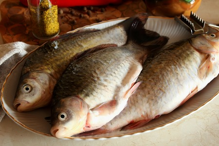 gutted: Gutted fish, ready-to-cook Stock Photo